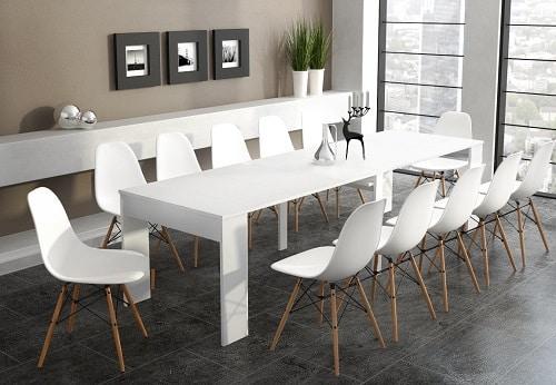 comprar mesa consola extensible blanco mate ofertas