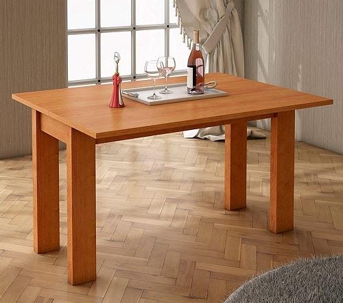 mesa comedor extensible color cerezo ofertas