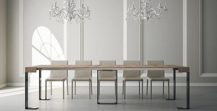 mesa consola extensible 14 comensales