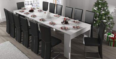 mesa consola extensible para 14 comensales